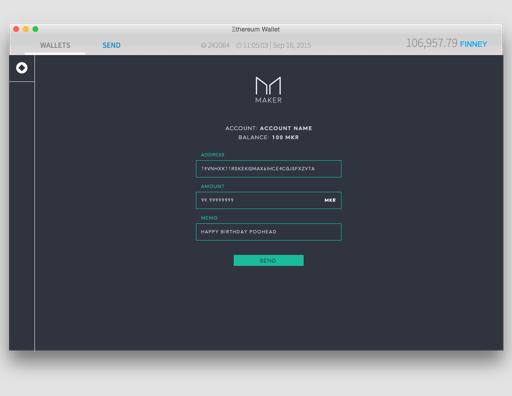 Maker Mist Wallet Concept